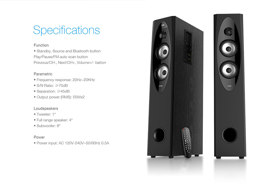 F Amp D T60x Tower Floorstanding Bluetooth Speaker Buy Best